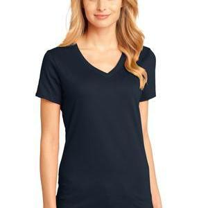 District Made® - Ladies Perfect Weight® V-Neck Tee - DTG