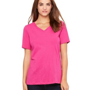 Women's Relaxed Short Sleeve Jersey V-Neck Tee
